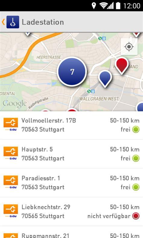ladestation elektroauto app update der enbw app ladestation mit anzeige der