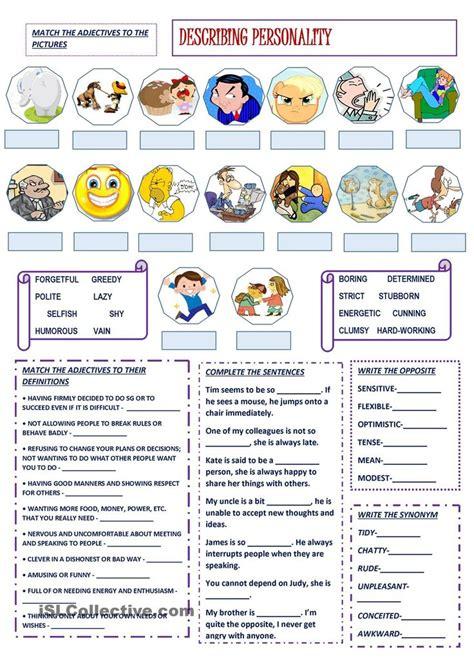 describing personality english vocabulary english