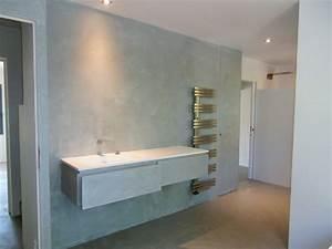 beton cire stuccos et chaux ferree With porte de douche coulissante avec enduit effet béton ciré salle de bain