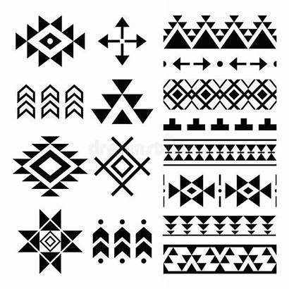 Aztec Tribal Pattern Navajo Elements Vector Ethnic