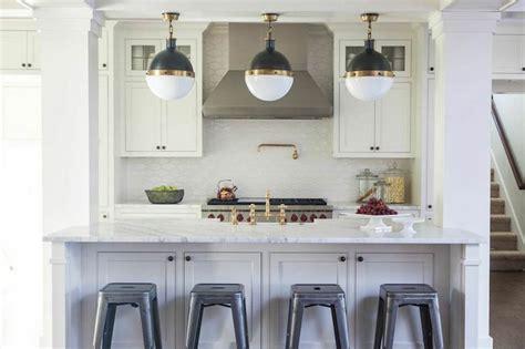 Kitchen Island Columns - Transitional - Kitchen - Julie