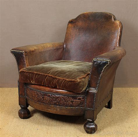 vintage leather armchair leather bothy chair antiques atlas 3232