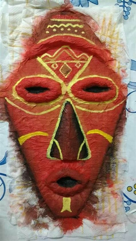 african mask simple craft ideas