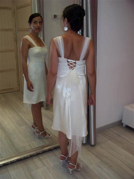 robe de mari 233 e courte pour mariage civil