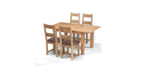breton oak 140 180 cm extending dining table and 4 chairs