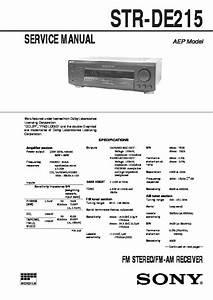 Str Dn840 Sony Amp Manual