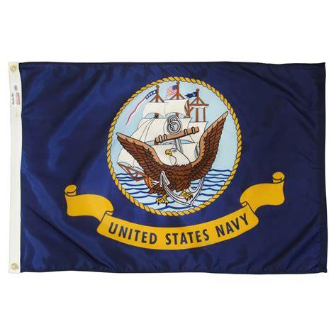 navy xft nylon flag  pole hem  banner