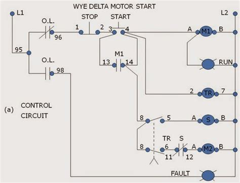 wye delta reduce voltage starter motor operation