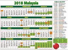 TDS 2018 Calendar Malaysia Kalendar 2018 Calendar2018