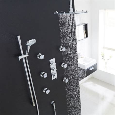 ceiling mount rainfall shower new thermostatic ceiling mount shower system with 6