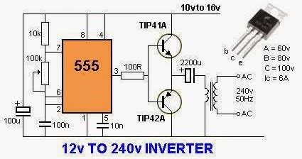 electrical engineering world  volts   volts inverter