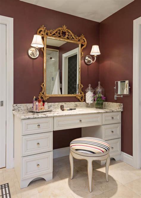 elegant makeup vanity  ornate gold mirror striped