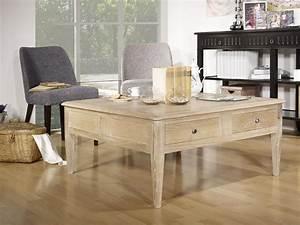 Table Carree Chene : table basse carr e em ch ne de style directoire meuble en ch ne ~ Teatrodelosmanantiales.com Idées de Décoration