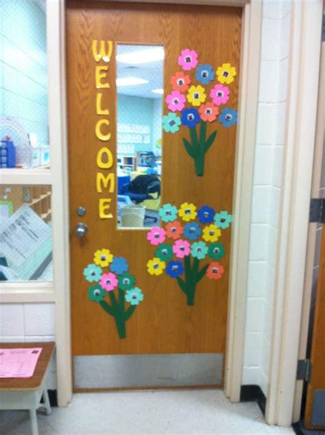 spring door decor preschool kindergarten ideas