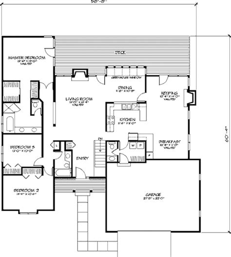 Country Style House Plan  3 Beds 25 Baths 2004 Sqft