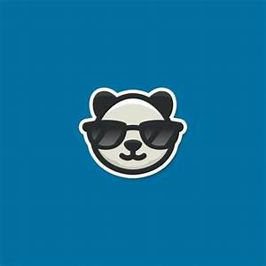 For Sale: Cool Panda Sunglasses Logo Design | Logo Cowboy