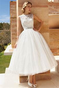 tea length beauties for older more sophisticated brides With t length wedding dresses