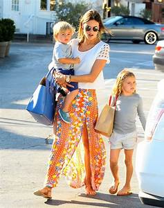 Alessandra Ambrosio Out with Her Kids - Zimbio
