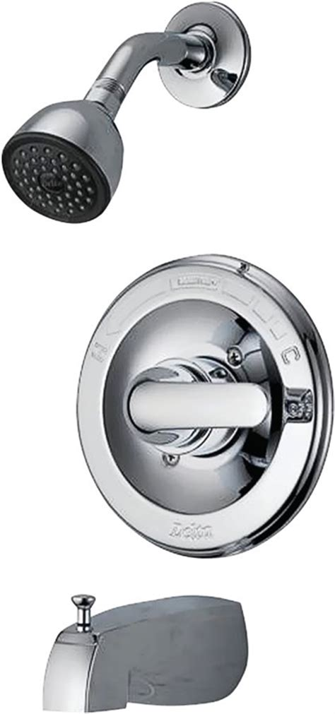 delta monitor faucet delta monitor tub shower faucet 5 in lever handle
