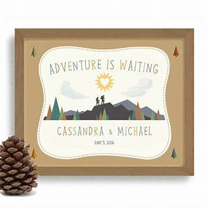 hiking gift adventurous couple personalized wedding gift With wedding gift for outdoorsy couple