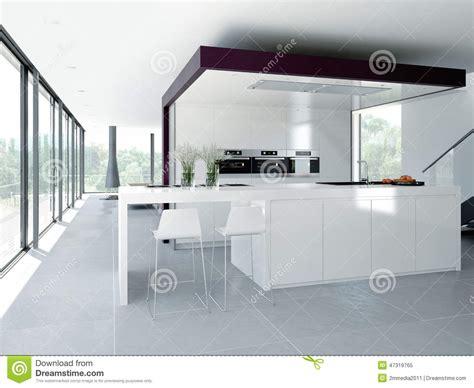 concept cuisine intérieur moderne de cuisine concept de construction 3d