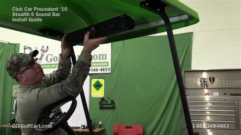 Wet Sounds Stealth 6 Sound Bar Install On Golf Cart Youtube
