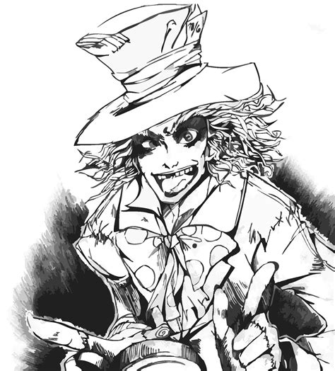 Johnny Depp Mad Hatter Drawing At Getdrawingscom Free