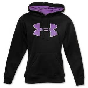 Purple and Black Under Armour Hoodie