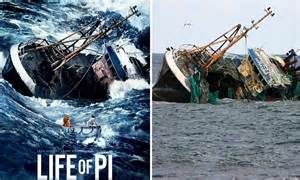 sinking container ship featured  hit film life  pi