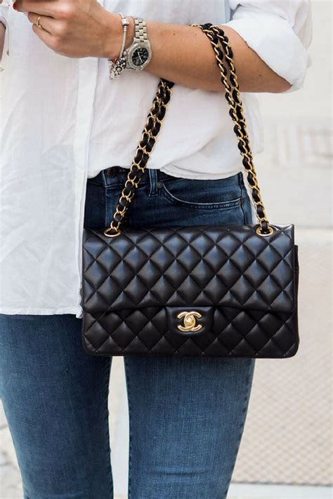 chanel timeless chanel classic double flap bag medium gold hardware chanel bag classic
