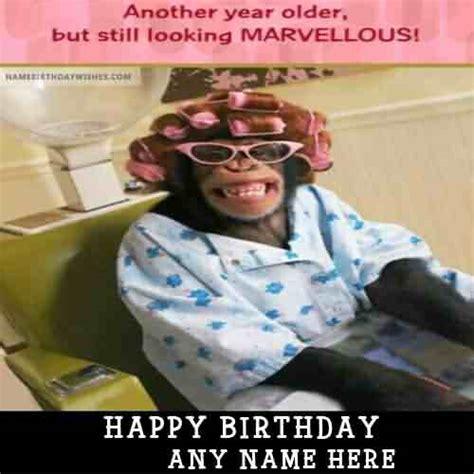 monkey funny happy birthday wishes image picsmine