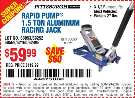 3 Ton Aluminum Floor Harbor Freight by Harbor Freight 3 Ton Coupon Tennis Warehouse Coupon