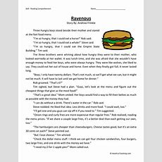 Ravenous  Reading Comprehension Worksheet