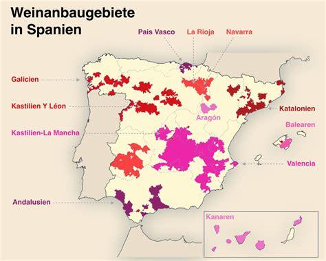 spanischer wein alle rebsorten und anbaugebiete