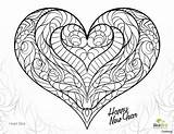 Heart Coloring Pages Detailed Double Printable Getcolorings Colorin sketch template