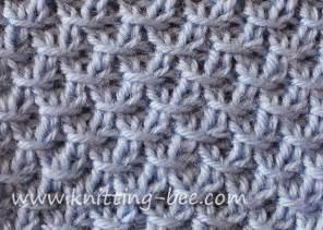 Knitting Diagonal Cross Stitch Pattern