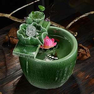 Décoration Feng Shui : celadon water fountain lucky feng shui home decor gifts ~ Dode.kayakingforconservation.com Idées de Décoration