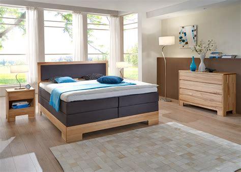Schlafzimmer Dijon Premium Kernbuche Massiv Boxspringbett
