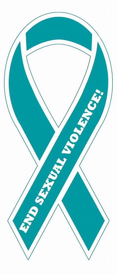 Ribbon Teal Sexual Violence End Assault Magnet