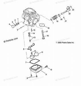 Polaris Atv 2006 Oem Parts Diagram For Carburetor  Lower