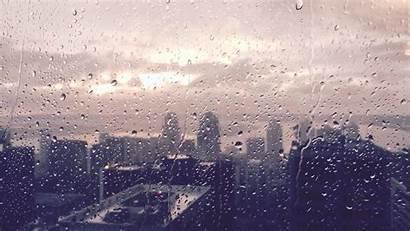 Rain Background Backgrounds Raining Rainy Retro Window