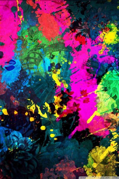 colorful paint splatter ultra hd desktop background
