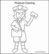 Coloring Office Mail Printable Mailman Sheets Usps Helpers Colouring Template Activities Popular Colorings Crafts Templates Henninger Nancy sketch template