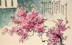 cherry blossom decor traditional korean and painting korean