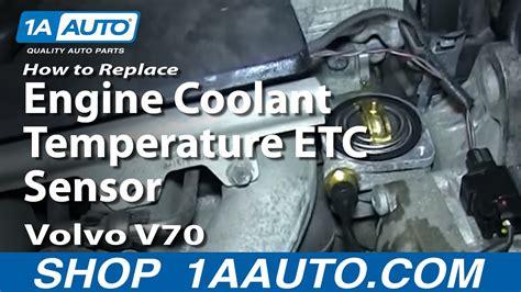 replace coolant temperature sensor   volvo