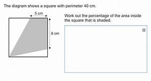 A Diagram Shows A Square With A Perimeter Of 40cm  Work
