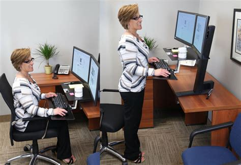 dual monitor standing desk attachment ergotron 33 349 200 workfit s adjustable standing desk