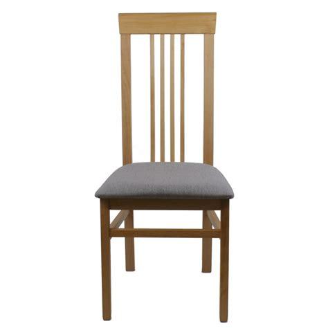chaise tissu et bois chaise bois et assise tissu gris clair modèle