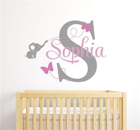 custom elephant  wall decal  girls baby room