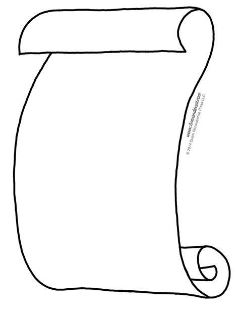 Free Scroll Templates  Clipart Best